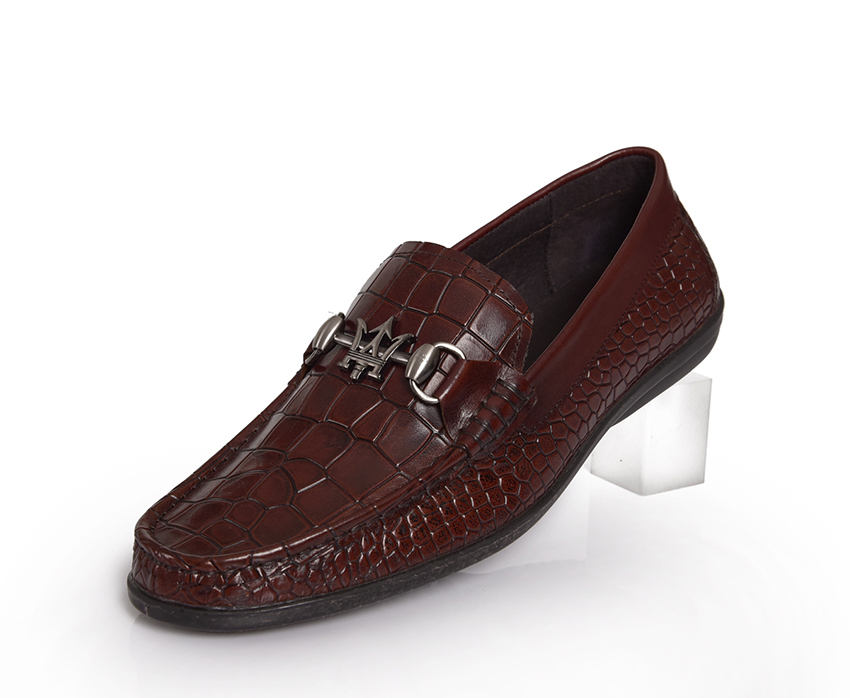 e7d6c4b33c4 Get Quotations · Italian luxury brand summer style black brown alligator  genuine leather men shoes casual loafers flats driving