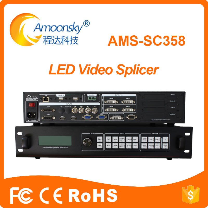 SC358 support linsn ts802d nova msd300 colorlight s2 4k video matrix switcher as vdwall lvp608 lvp609 for flexible <strong>led</strong> <strong>display</strong>