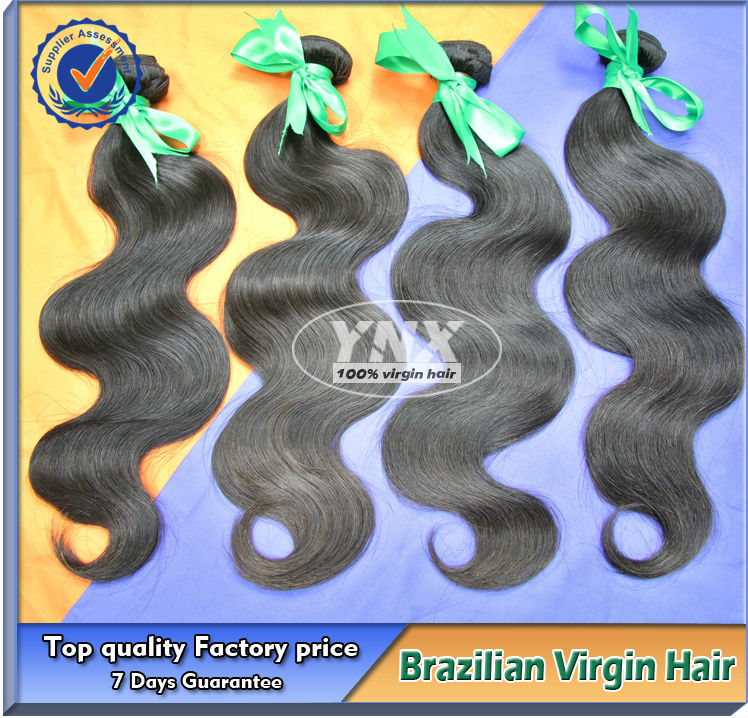 High quality wholesale virgin brazilian human hair weaving provide by guangzhou hair supplier