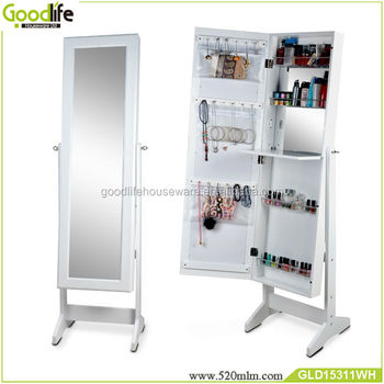 Floor Standing Jewelry Cabinet With Mirror Living Room Furniture Dubai