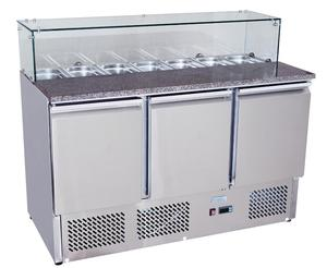 Commercial Used Salad Bar Refrigerator Display Salad Counter Chiller