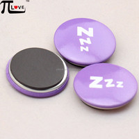China promotion gift manufacture & supplier round tin plate refrigerator magnet