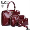 new arrival lady embossed crocodile pattern V word three sets