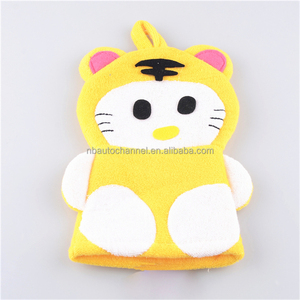Funny Polyester Animal Puppet Mitts Wash Cloths For Babys- Lovely Tiger