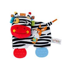 Sozzy Baby набитый носовой платок Игрушка-прорезыватель для зубов морщинка звук мягкие животные Сова девочка собака Удобная игрушка для детей п...(Китай)