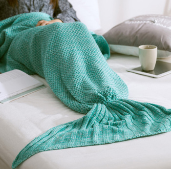 Crochet Mermaid Tail Blanket Fashion Mermaid Sleeping Bag Blanket