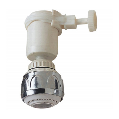 ABS Aerator Shower, Tap Aerator Water Saving, F22 X1 Thread, White with Chrome Colors, X4783