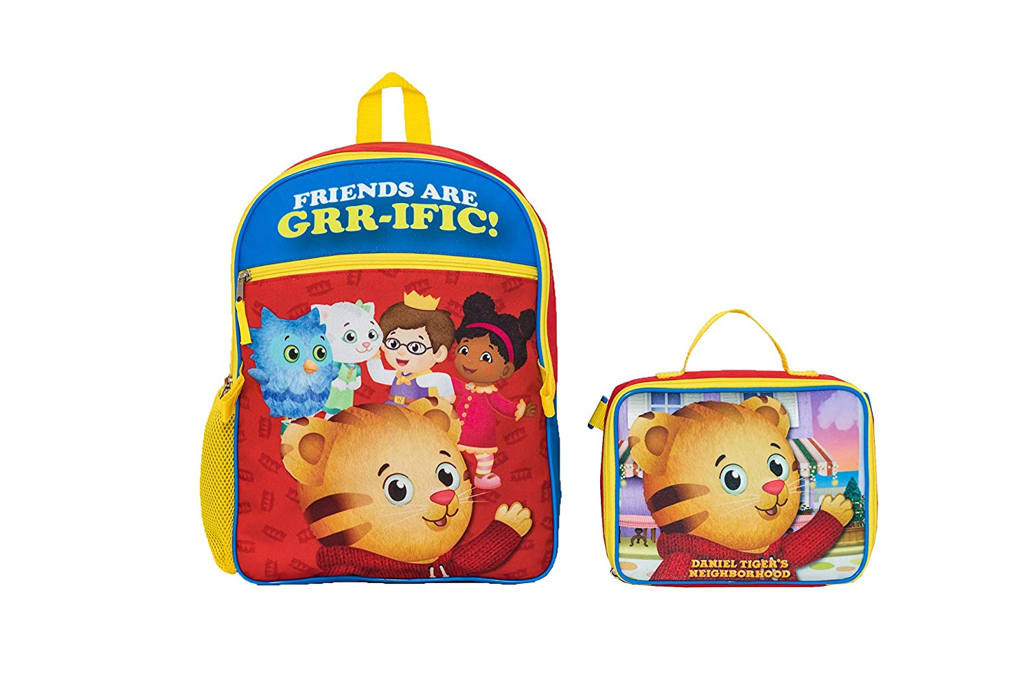 8f980eabf5 Get Quotations · The Fred Rogers Company Daniel Tiger Backpack With Lunch  Kit Backpack