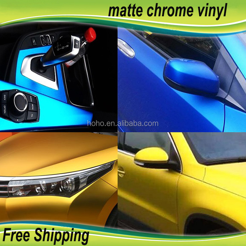 Vinyl 1 52*20m/orange Similar 3m Super Quality Matte Chrome Metallic Car  Vinyl Wrap Sticker Wholesale - Buy Vinyl 1 52*20m/ Green Similar 3m Super