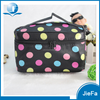 2015 hot selling Promotion fashion handle satin fabric dressing cosmetic makeup case