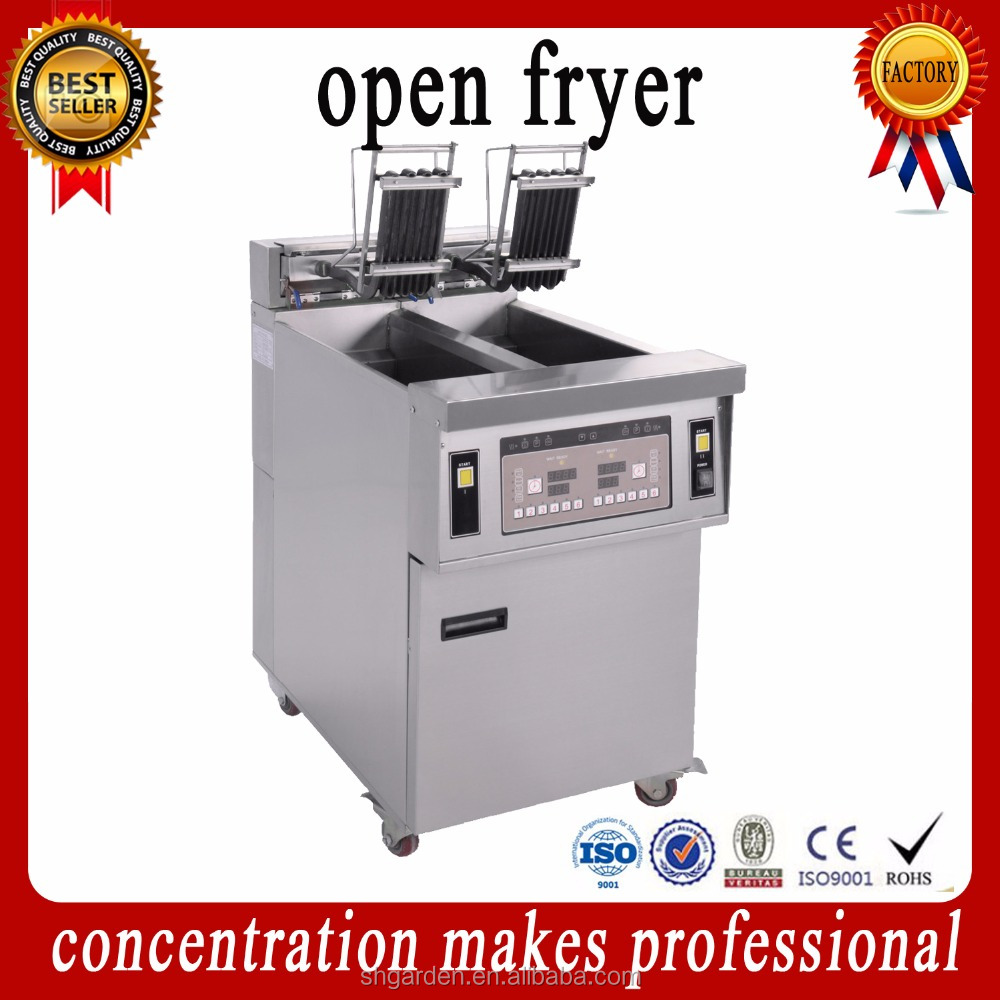 OFE-28A used commercial automatic electric deep fryer heating used gas deep fryer