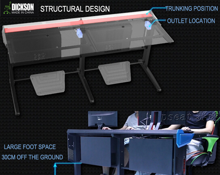 Dickson gaming table desk PC computer stalinite desk with extreme