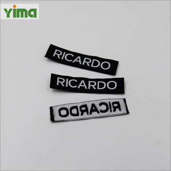 Private brand name logo damask tag garment label custom woven kids name cloth labels