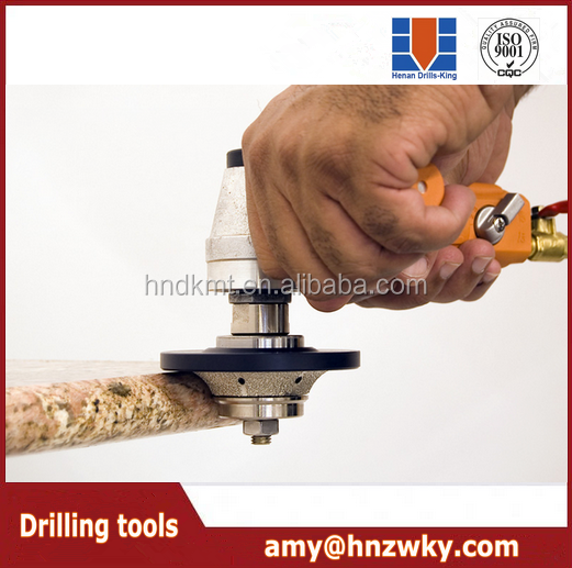 High quality vacuum brazed granite router cutting bits for stone and glass processing