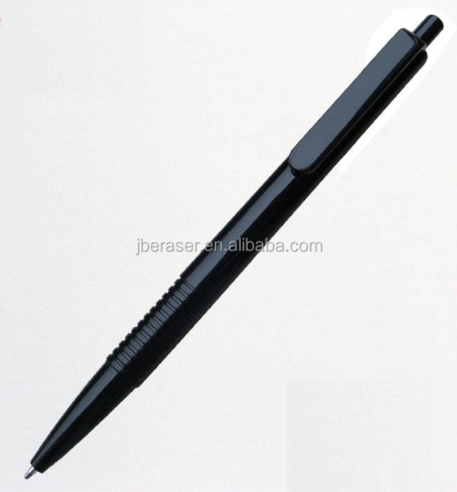 click hotel and resort use cheap plastic black ball pen