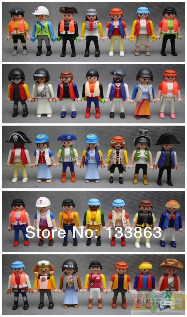 Free Shipping 10 pcs packed Playmobil Knights figures random castle children Toys,toys for kids, German toys