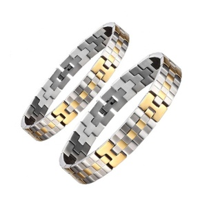 Gold Plated Bio Health His and Hers Bracelet Accessories Couple Bracelets