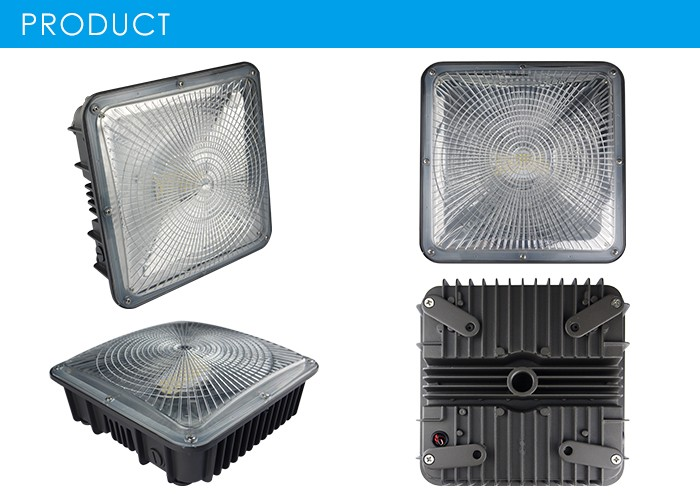 Gas station led canopy light 75w/100w/50W high bright led outdoor canopy light with ETL DLC approved retrofit led canopy light