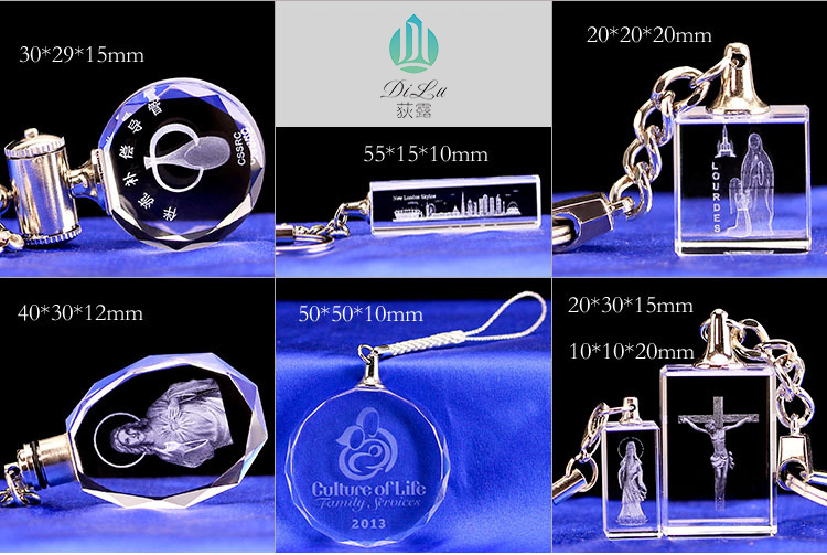 Wholesale Bulk Key Holder Crystal Glass Led Light Key Chain Keychain Wedding Customised Keyholder