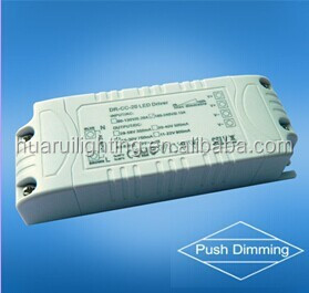 20W 700ma 30v Constant current push dimming Led switching power driver, AC terminal input dimming