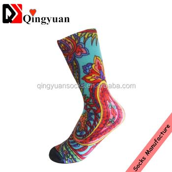 a1233a634d32e Sublimation Printing Digital Print Basketball Sublimation Sport Compression  Elite Wholesale Sock Manufacturer Custom Man Sock