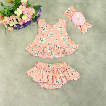 Newborn Ruffled Hottest Selling Baby Clothes Set Baby Swing Top Sets