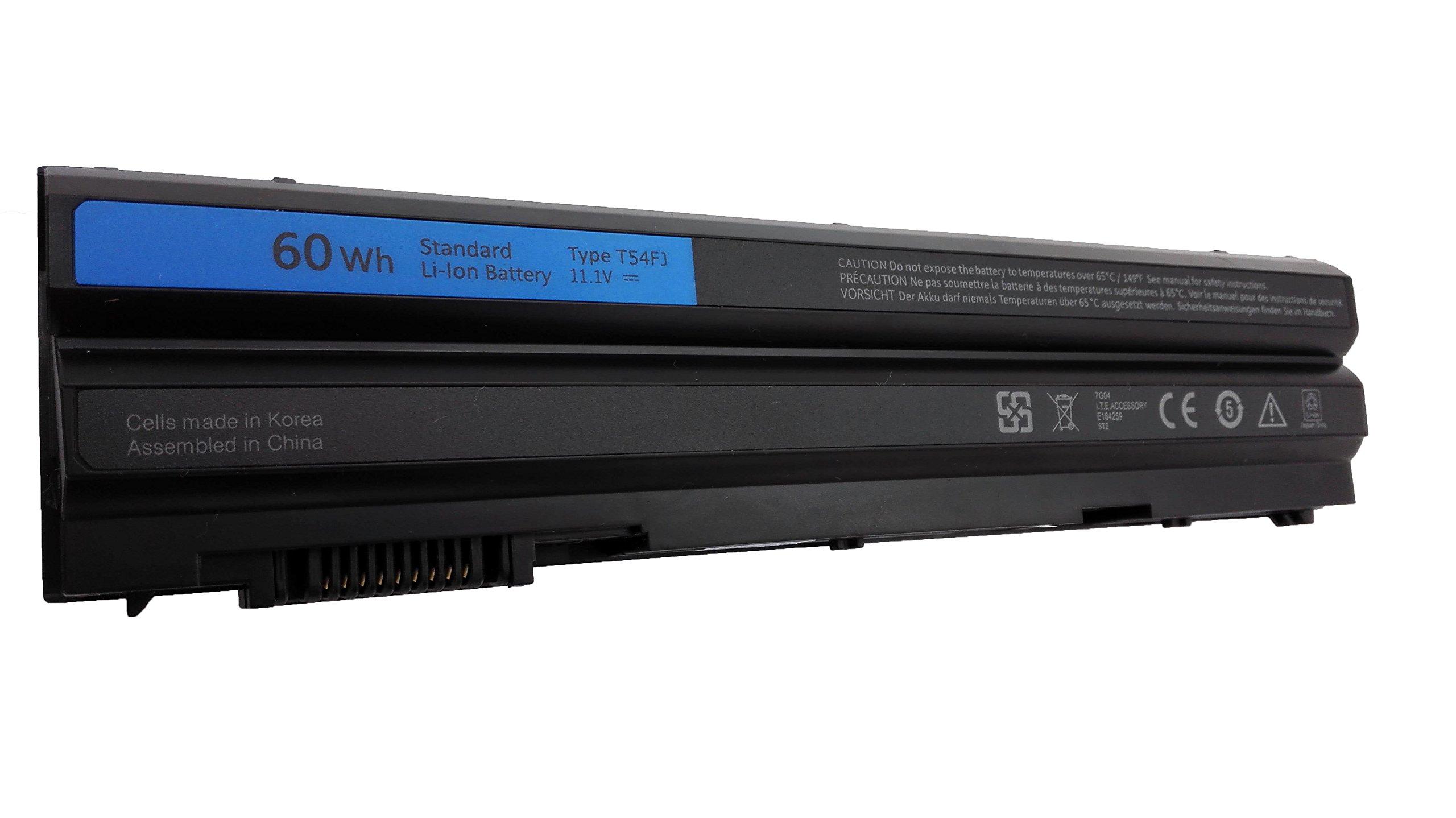 HYTA™ 6 Cell 11.1V 60Wh Brand New Laptop battery T54FJ For Dell Latitude E6420 E6430 E6520 E6530 E5420 E5520 E5430 E5530 Series