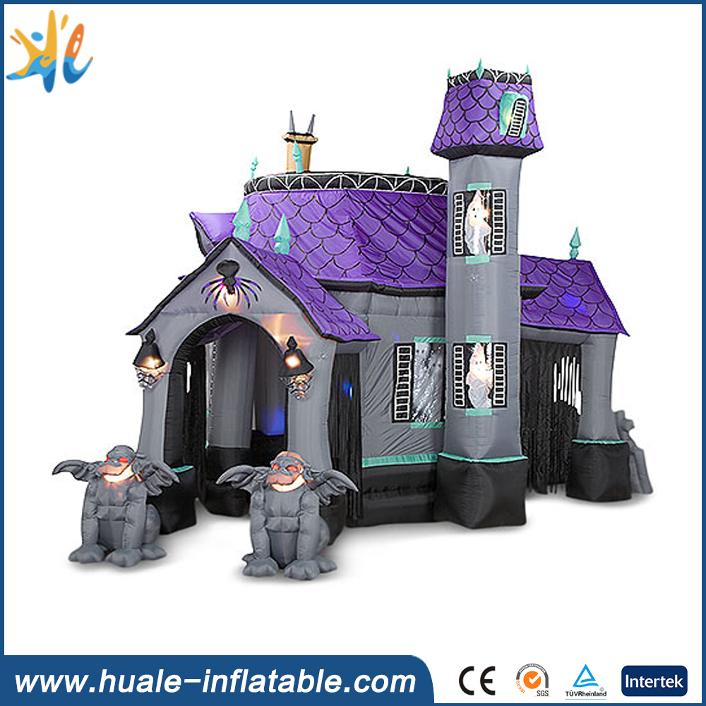 Inflatable halloween bounce house , halloween inflatable haunted house for sale