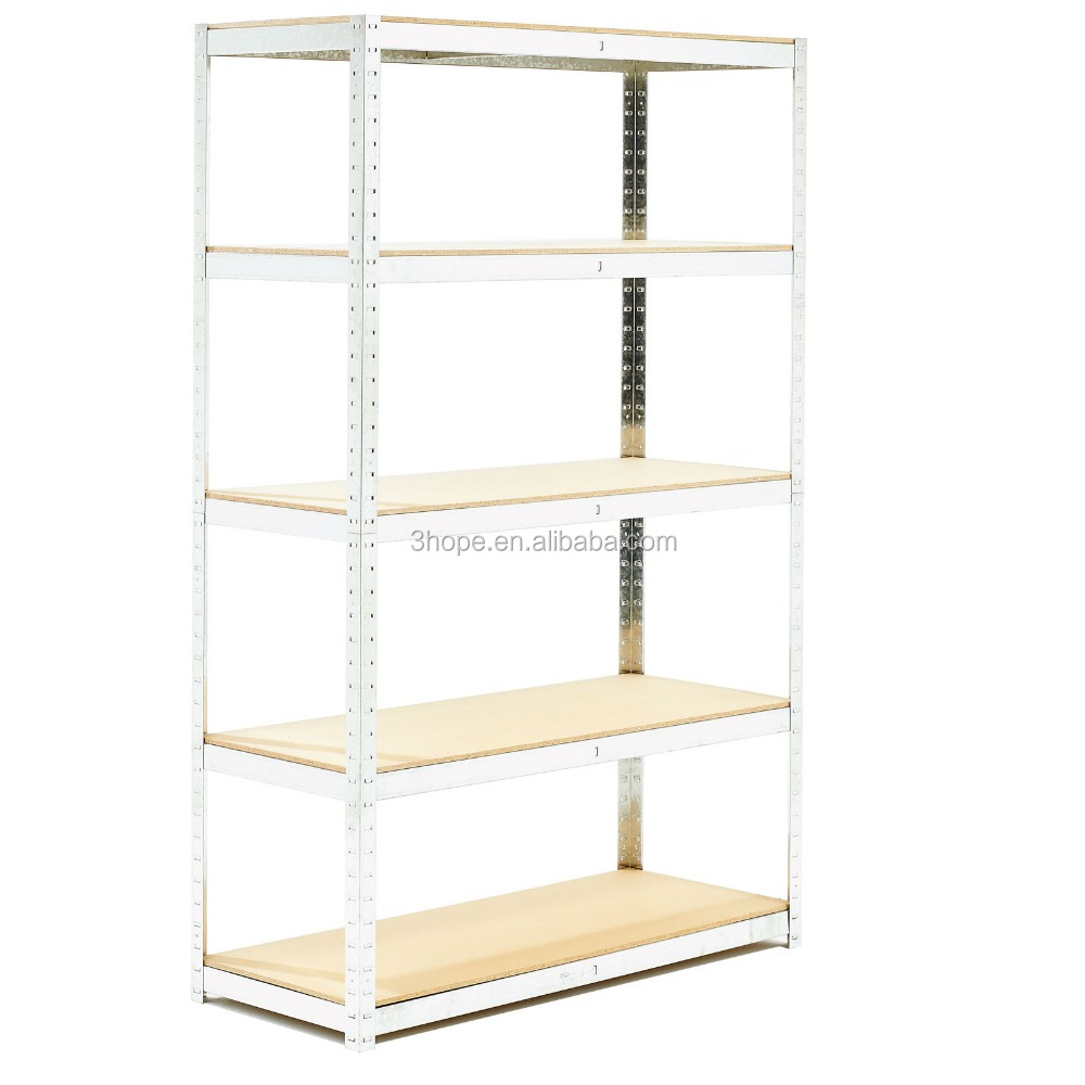 NEW HEAVY DUTY 1 BAY 4 TIER GARAGE WORKSHOP SHELVING BOLTLESS STORAGE UNIT RACK