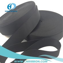 "1.5"" high density black nylon plain webbing thin and thick kind using for bag belt and tent"