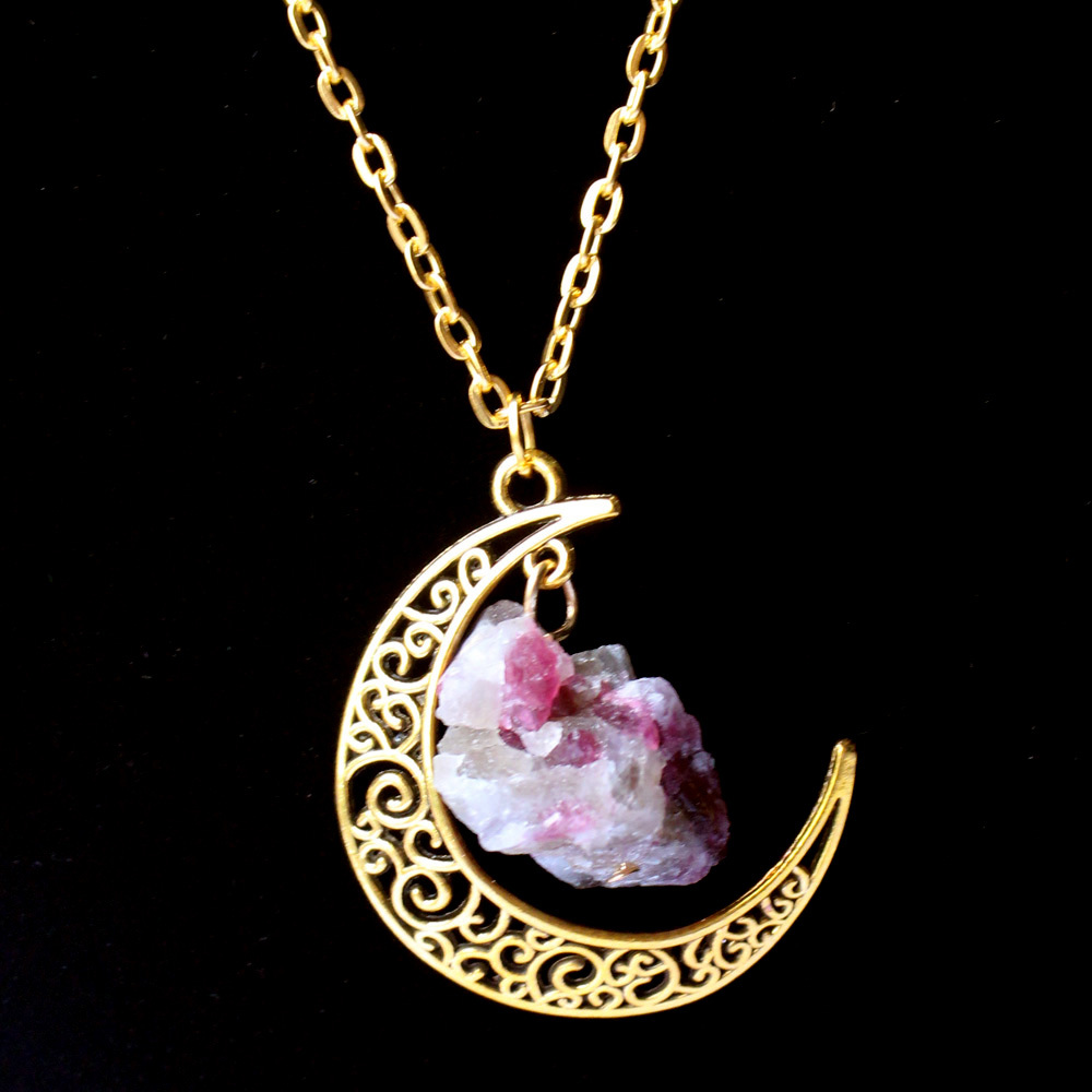 2015 Sailor Moon Necklace Sun And Moon Jewelry 60cm gold ...