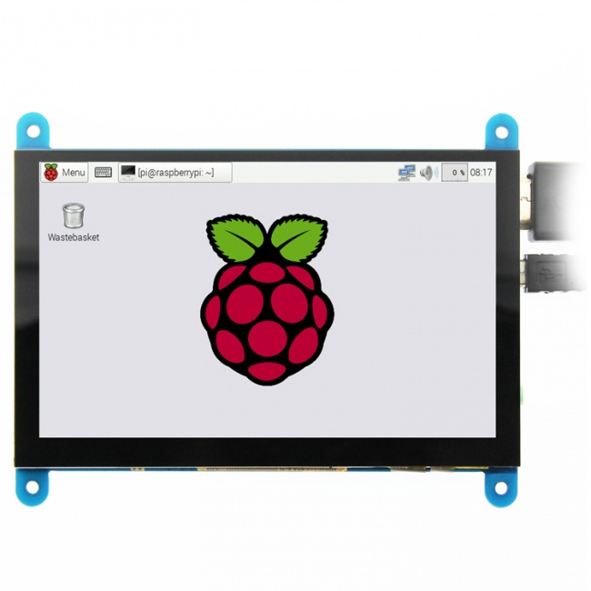 "3.5""  MAR3513 480*320 LCD HDMI Display with 5V/1A/2A mini-USB power supply for Raspberry Pi and PC HDMI Input and Touch screen"