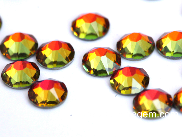 Factory High Shiny SS20 2088 rhinestone style 16 cut facets siam ab glass non hot fix rhinestones for nail art decoration