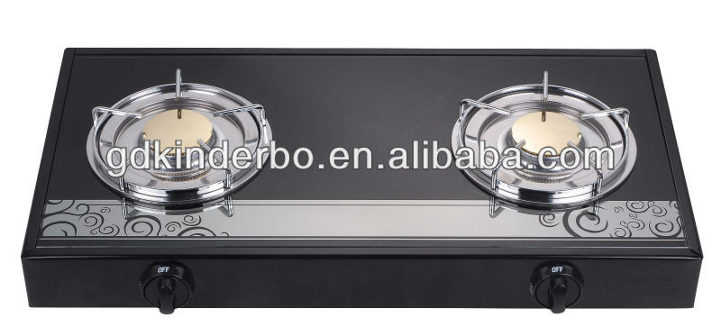 Popular design explosion-proof glass two burners gas stove