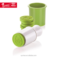 High Temperature Resistance Silicone Cookie Stamp With 6 Christmas Motifs
