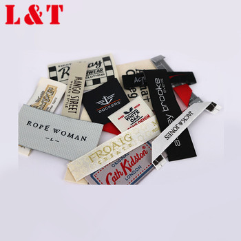 Cheap Eco-friendly End Fold Clothing Damask Woven Label