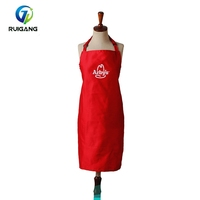 Cheap printed disposable cooking kitchen apron polycotton fabric apron