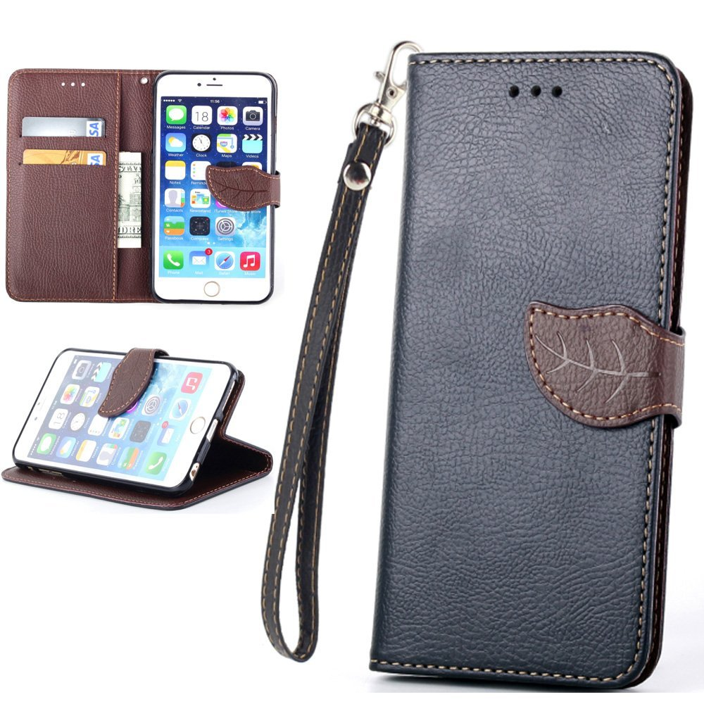 iPhone 5C,iPhone 5C leather Case,Wallet iPhone 5C Case,Case Cover for iPhone 5C,Canica [Magnetic] Wallet [PU Leather Case] Flip [Stand] Flap Closure Protective Cover iPhone 5C Black