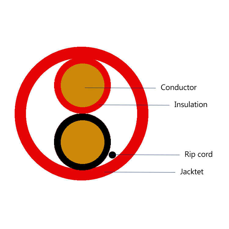Twisted pair PVC insulated fire alarm electric wire cable 2 4 6 core fire resistant signal cable alarm cable