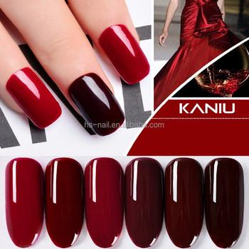 2017 UV/LED nail gel polish pomegranate red wine color soak-off gel ...