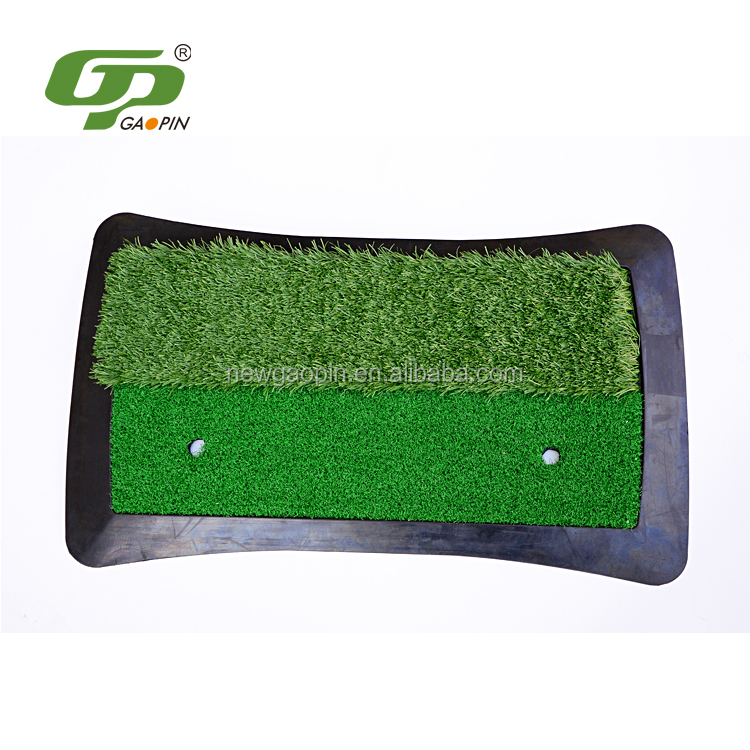 High quality artificial golf grass mat synthetic turf for golf