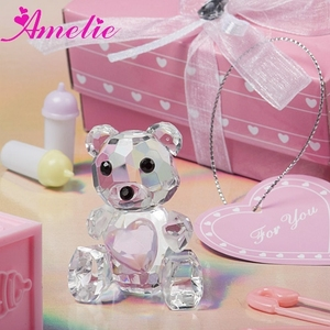 A08G61 Crystal Collection Teddy Bear Baby Birth Souvenirs