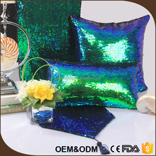 High quality wedding pillow decorative sophisticated sofa cushions with shinning aluminum sequin