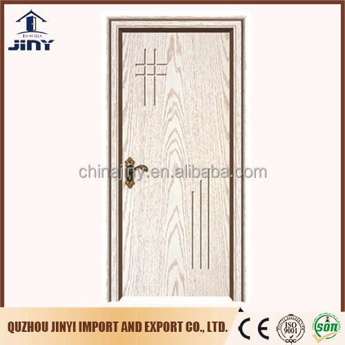 2017 new design interior pvc door panel skin South Africa popular pvc coated finished surface carving pvc hdf door price