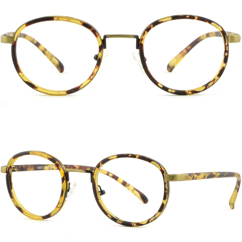 74c0ff5e5bd Get Quotations · Light Round Plastic Men Women Frames Prescription Glasses  Lenses Tortoiseshell