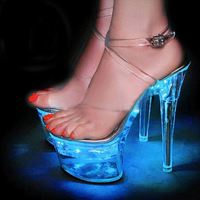 Hot Sale Women Fashion High Heels Led Light Up Party Shoes Led Flashing High Heels
