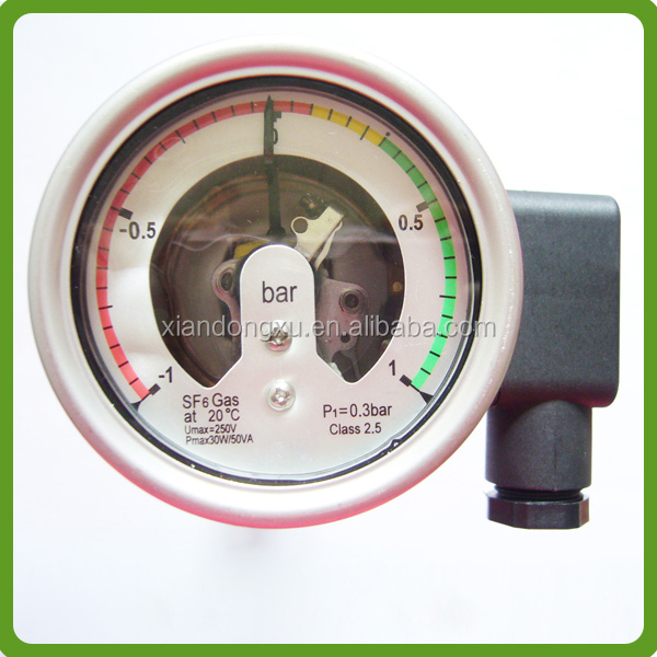 Hot Sale Quake-proof 100mm Sf6 Gas Manometer For Circuit breaker