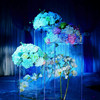 High quality transparent clear acrylic flower arrangement road lead table centerpiece for wedding decoration