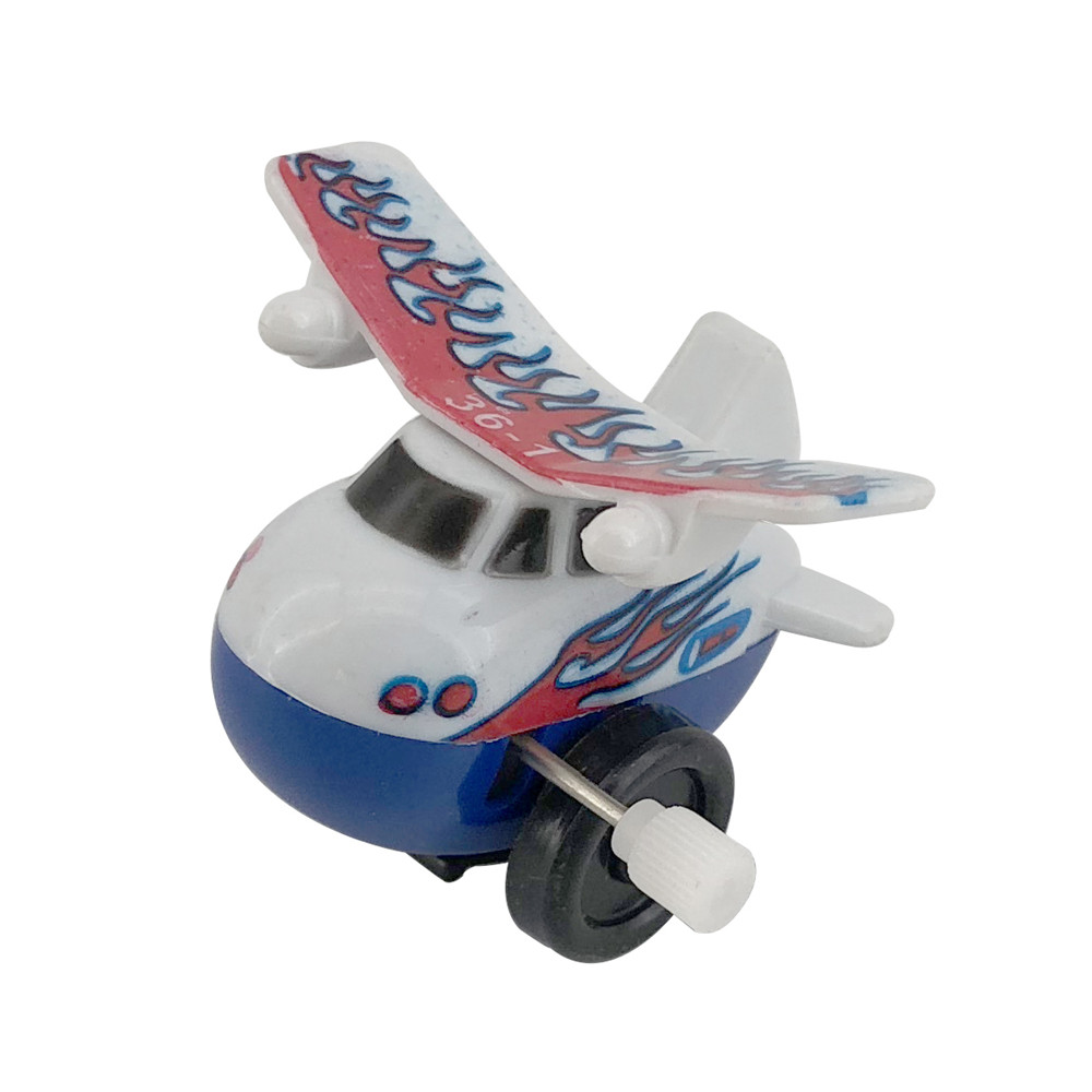 2019 Advertising promotion gift machine plastic air plane car wind up flying toys