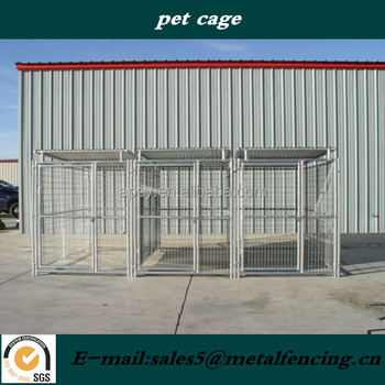 5'x9'x6' 3runs cheap large backyard metal grid kennel